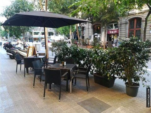 traspaso cafeteria con terraza en pau claris