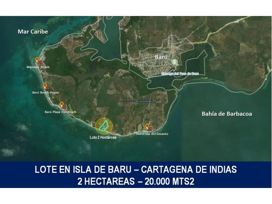 vendemos lote en isla de baru cartagena de indias