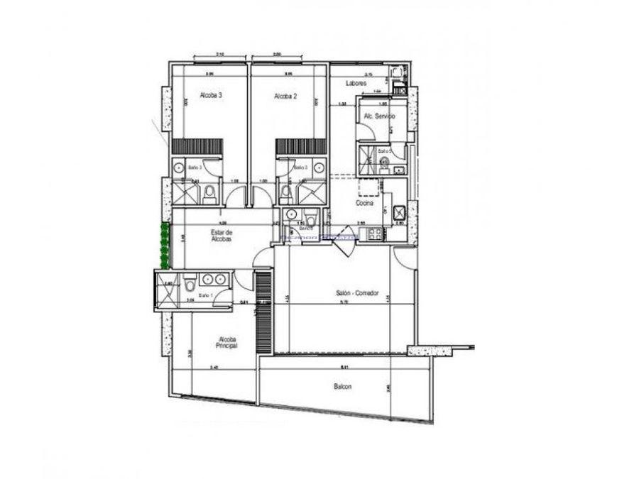 vendemos apartamento 3 alcobas en castillogrande en cartagena