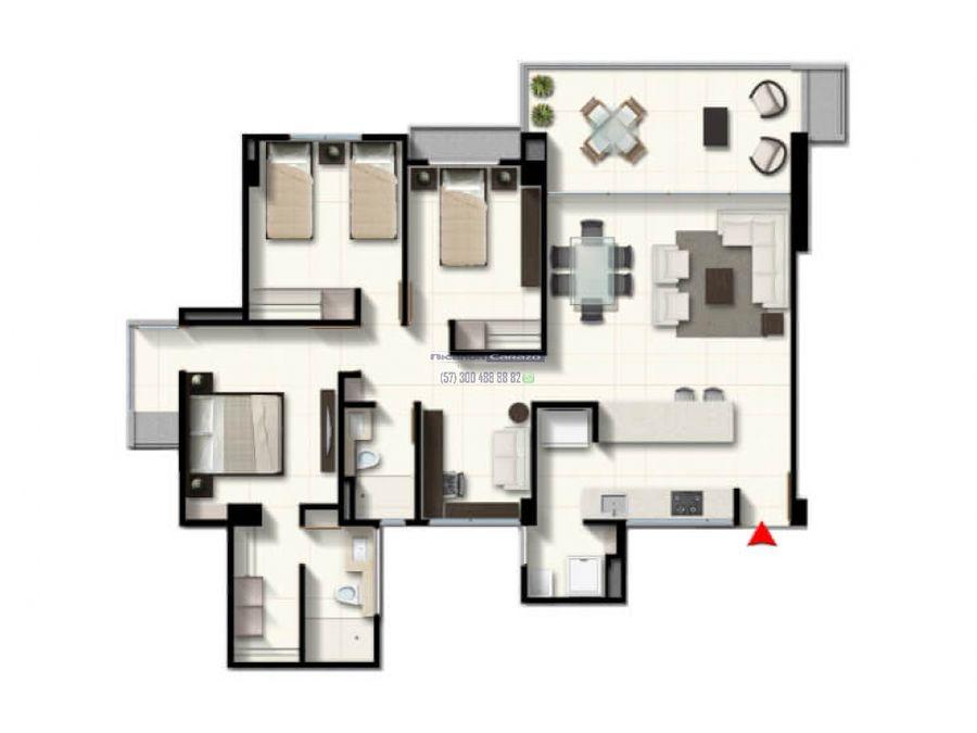 vendemos apartamento 3 alcobas en cavana serena del mar en cartagena