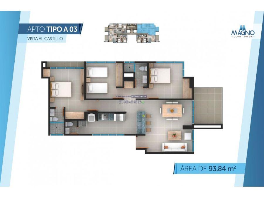 venta apartamento cesion en edificio magno tower manga cartagena