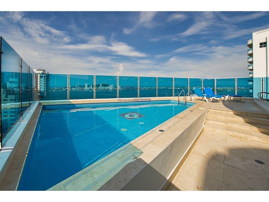 venta apartamento duplex en edificio bahia concha en castillogrande
