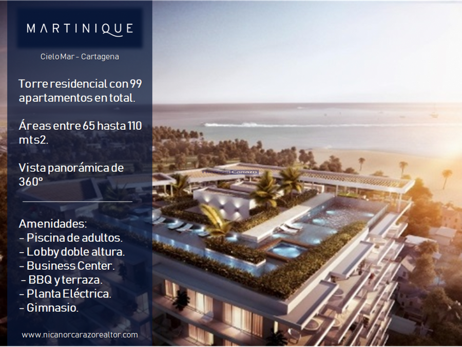 proyecto edificio martinique cartagena de indias
