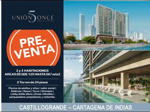 proyecto union 5 once apartamentos castillogrande cartagena
