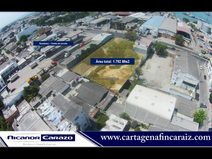 vendemos de lote en zona industrial en cartagena