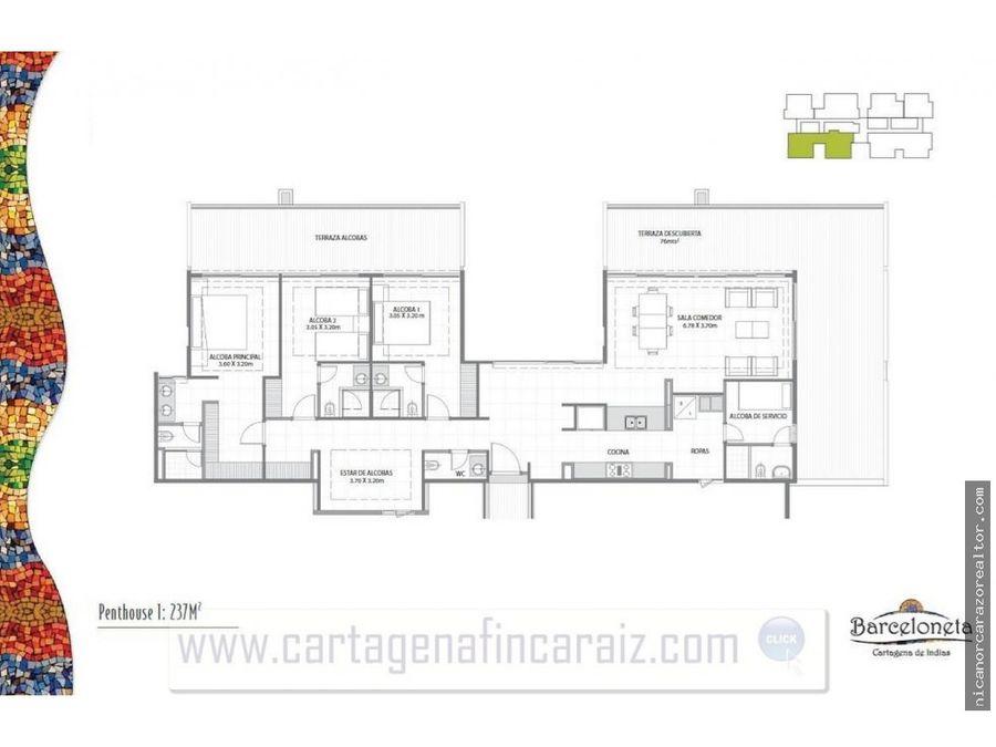 vendemos apartamento ph barceloneta en cartagena