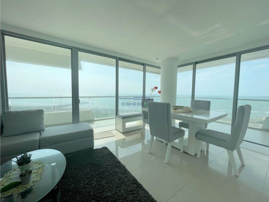 venta apartamento vista frente al mar en crespo cartagena de indias
