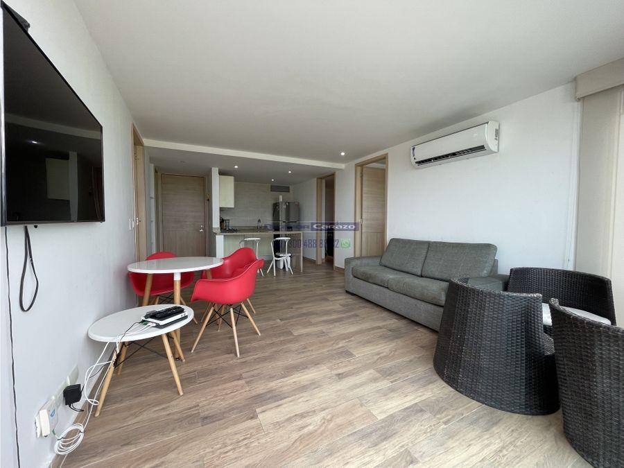 venta apartamento de 2 alcobas con vista a mar en crespo en cartagena
