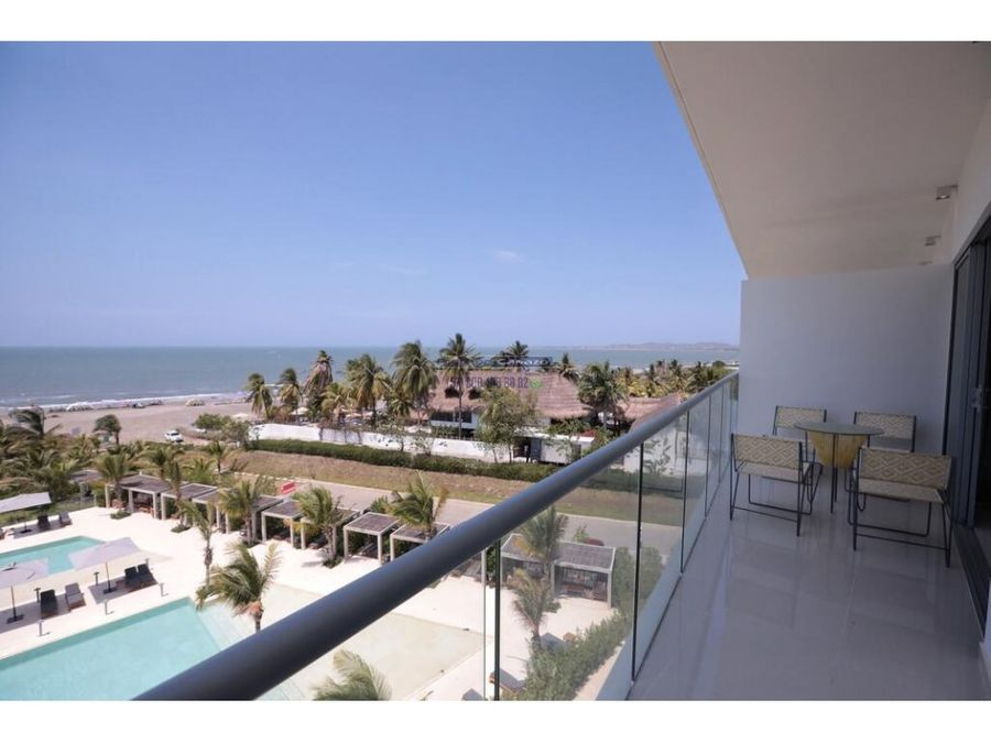 venta apartamento 1 alcoba frente al mar en morros eco cartagena