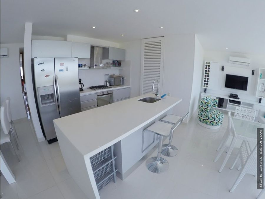 venta apartamento de 2 alcobas en karibana beach golf cartagena