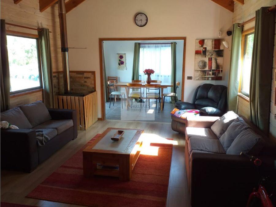 en venta parcela con casa y cabana excelente mantencion metrenehue