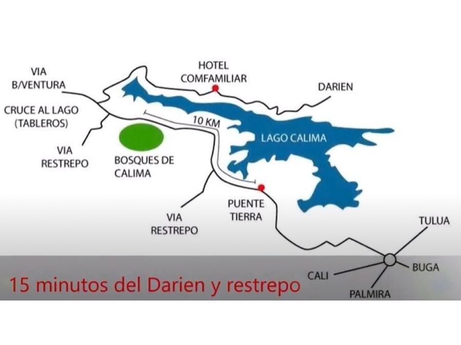 lote en condominio via restrepo a 10 minutos de lago calima