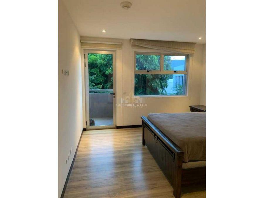 moderno apartamento en exclusivo cond en pozos de santa ana