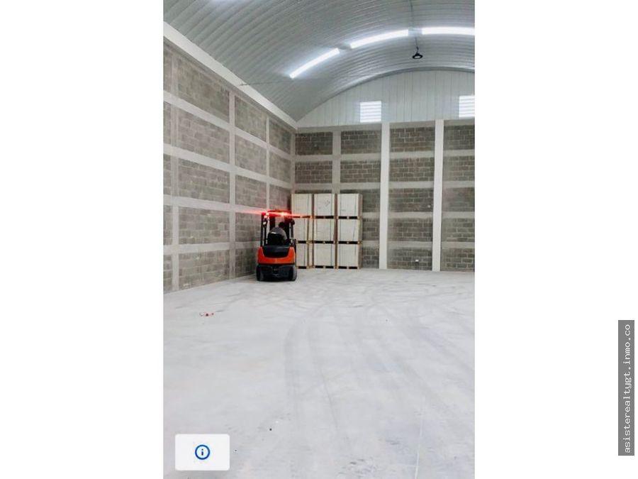 ofibodega de 630 m2 en renta la escuadrilla calz roosevelt