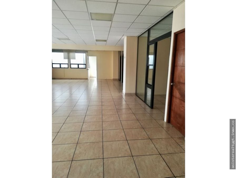 oficina 177 mts en renta zona 13