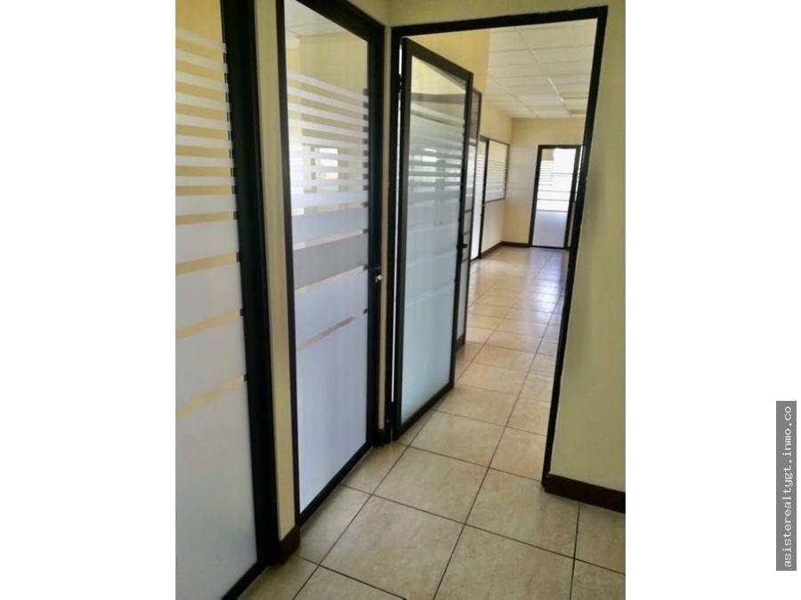 oficina 238 mts en renta zona 13