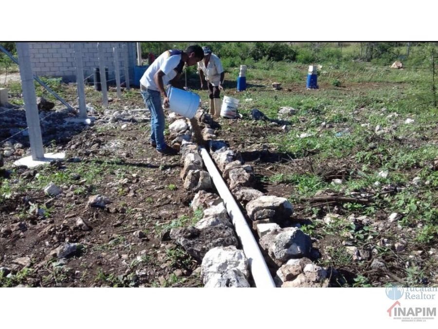 oportunidad venta terreno en yucatan equipado listo para trabajar