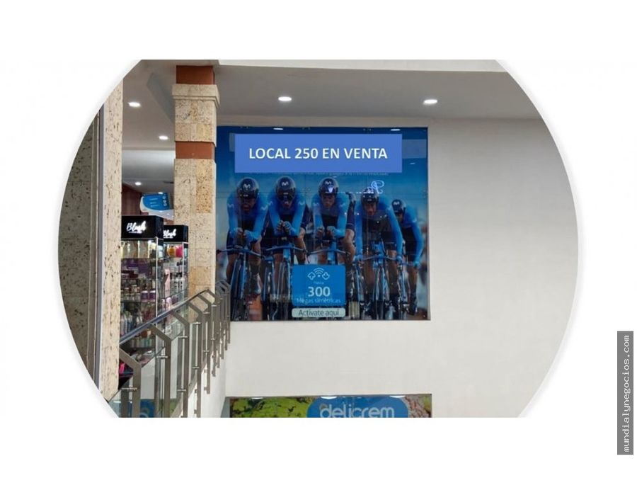 se vende local comercial no 250 en ocean mall santa marta mm