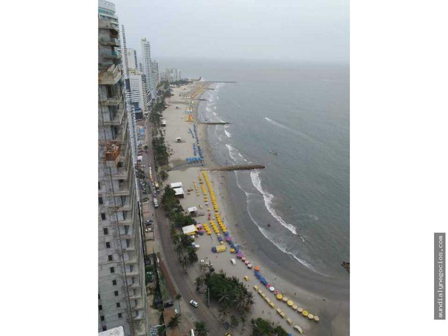 a la venta apartamento amoblado frente a las playas de bocagrande 019