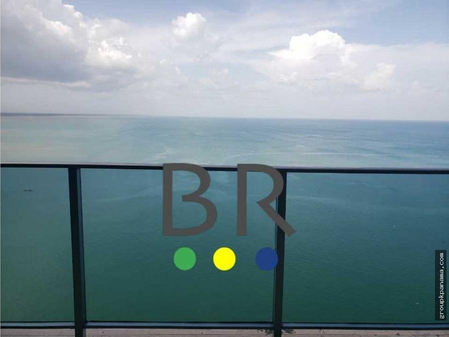 alquilo apt grand tower 303mtrs amueblado vista frente al mar
