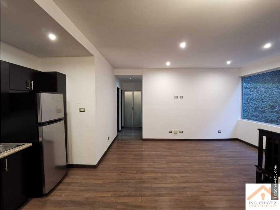 alquilo apartamento semi equipado en edificio trento zona 16