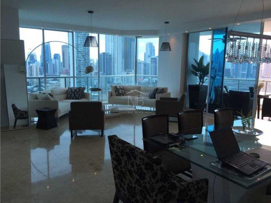 alquiler amueblado apartamento piso alto ph sky ave balboa