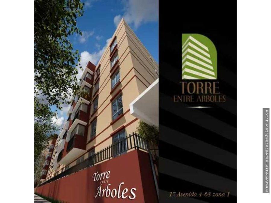 apartamento renta amueblado torre entre arboles en zona 1