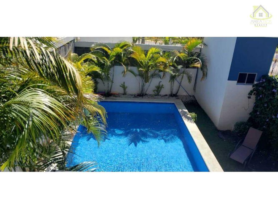 alquiler apto full amoblado con patio piscina 750
