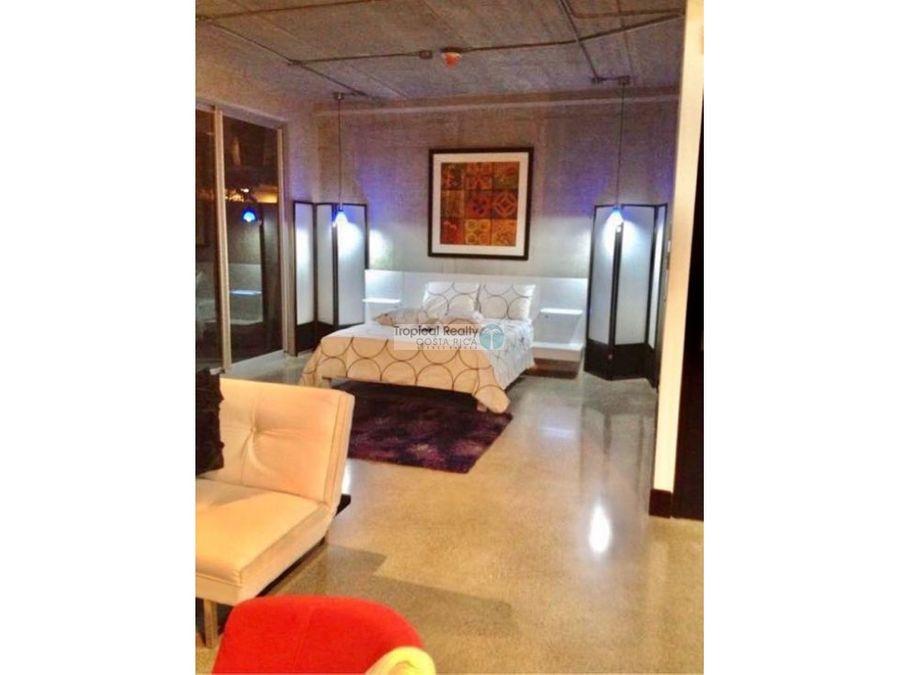 alquiler de apartamento amueblado estilo loft en avenida escazu