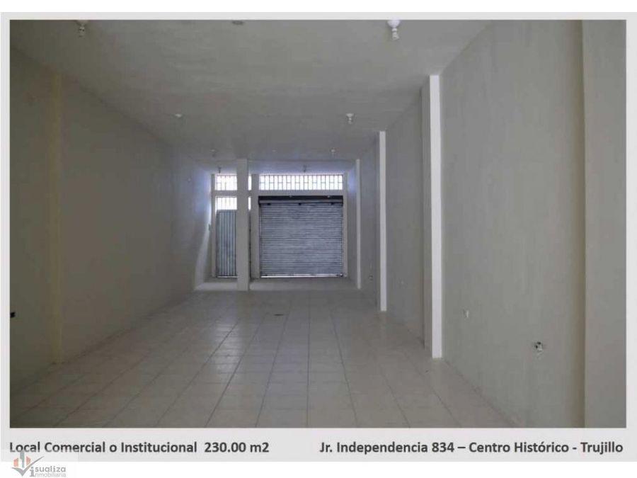 alquiler de local comercial o institucional 230m2