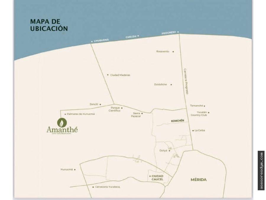 amanthe terrenos semiurbanizados cerca de playa chuburna