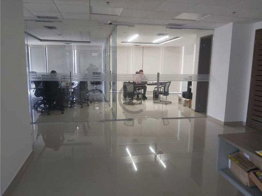 amplia iluminada oficina en el sector empresarial