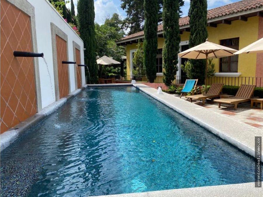 antigua guat x hotel santo domingo venta amueblado amenidades piscina