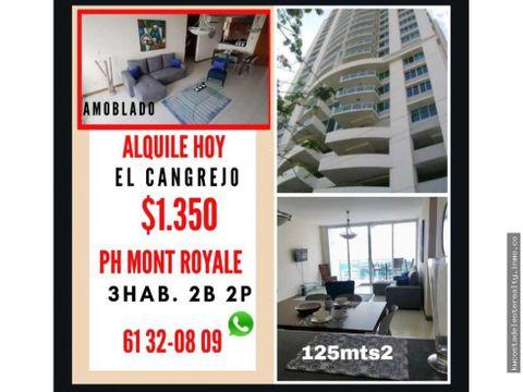 apartamento amoblado en el cangrejo ph mont royale