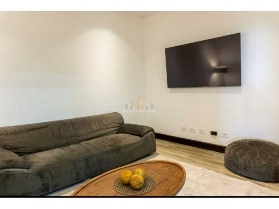 apartamento amueblado con exuberante vista en altos de las palomas