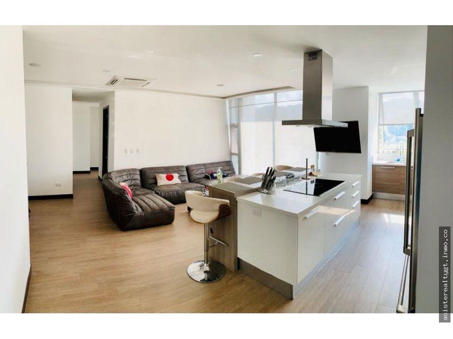 apartamento amueblado en renta zona 15
