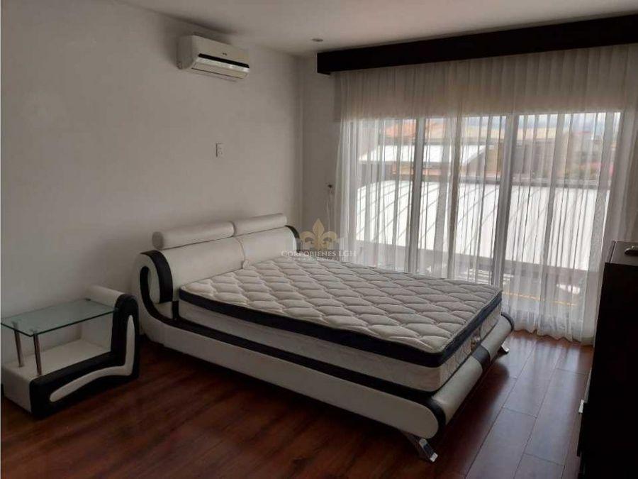apartamento amueblado en santa ana