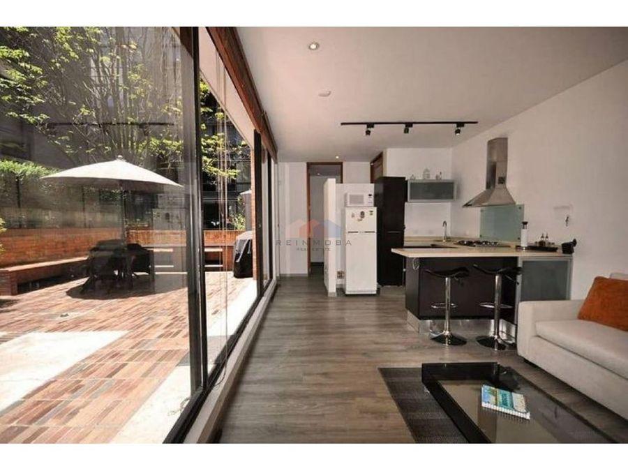 apartamento con terraza amoblado en arriendo rosales