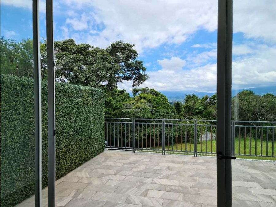 apartamento con terrazas bella vista en guachipelin escazu