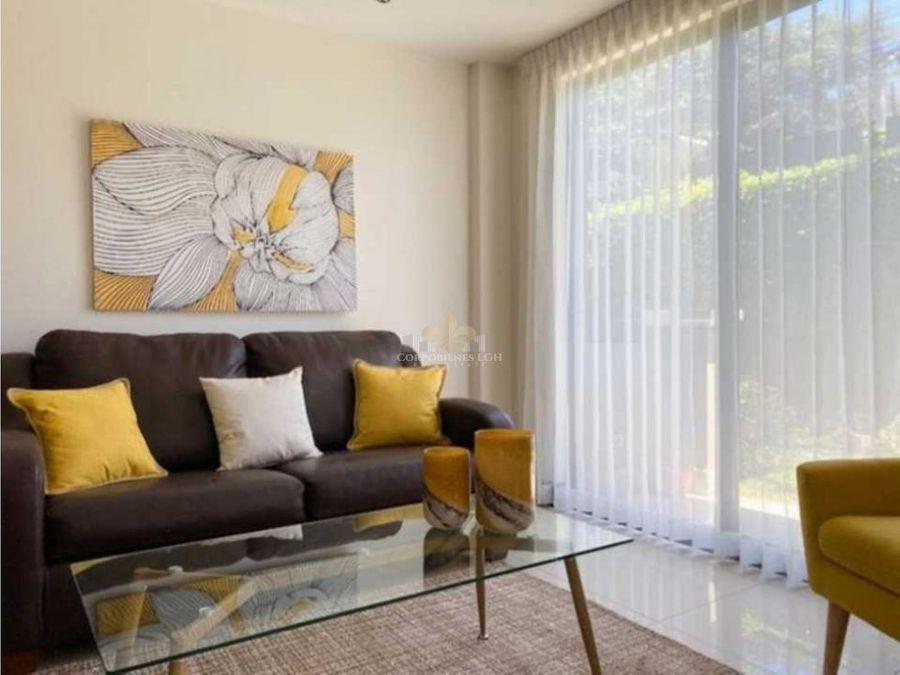 apartamento con jardin amueblado en pozos de santa ana
