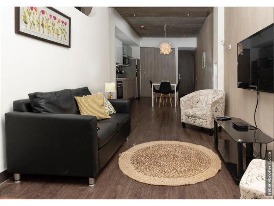 apartamento de 1 habitacion amueblado en torre santa ana