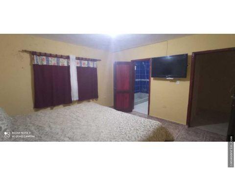 apartamento de 2 habitaciones se renta en rio san juan