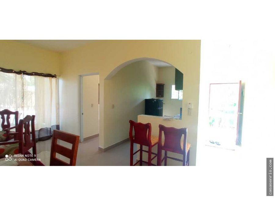 apartamento de 2 habitaciones se alquila en rio san juan