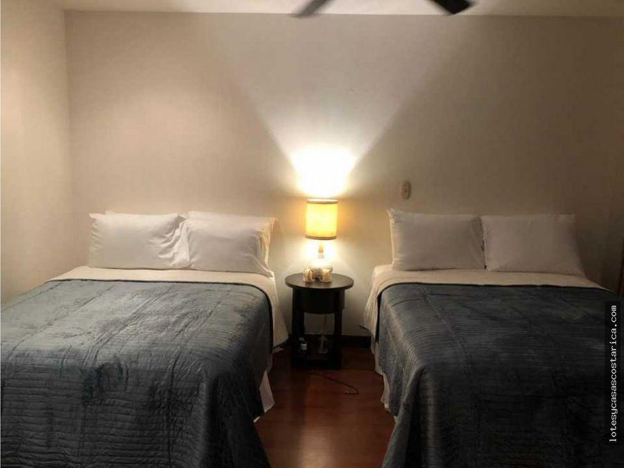 apartamento amueblado para alquiler en condominio en escazu trejos