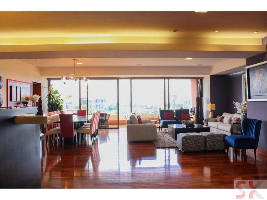 apartamento en exclusivo edificio de zona 10