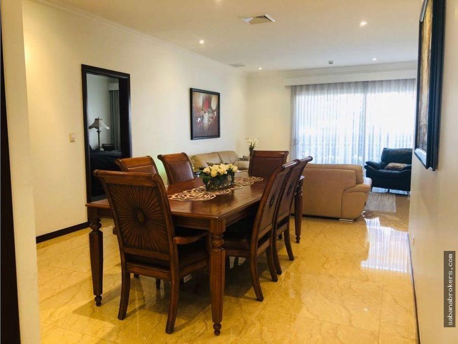 rebajado apartamento en escazu estates 3 hab amoblado con ac