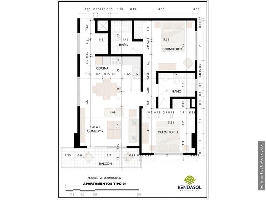 apartamento en juan dolio a 450 mts de la playa