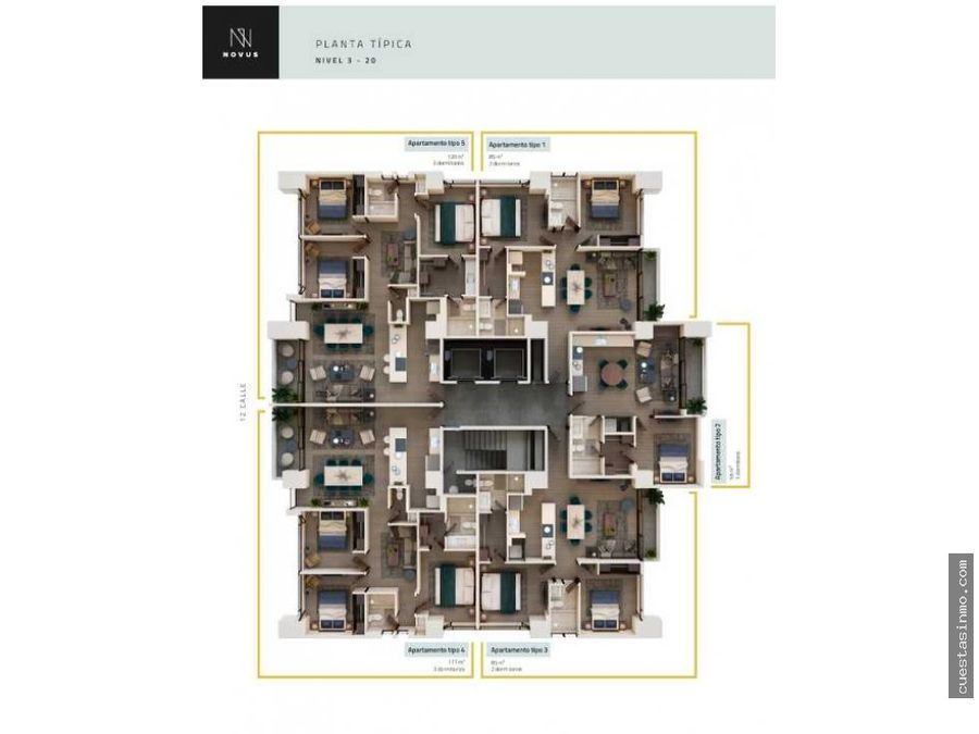 apartamento en renta novus vita zona 14 1