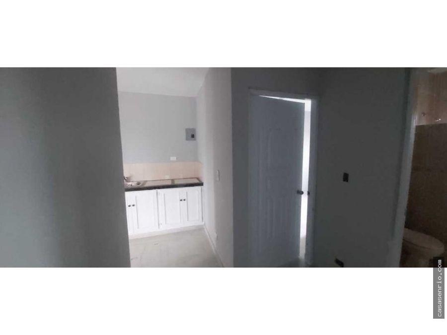 apartamento en renta de dos habitaciones en rio san juan