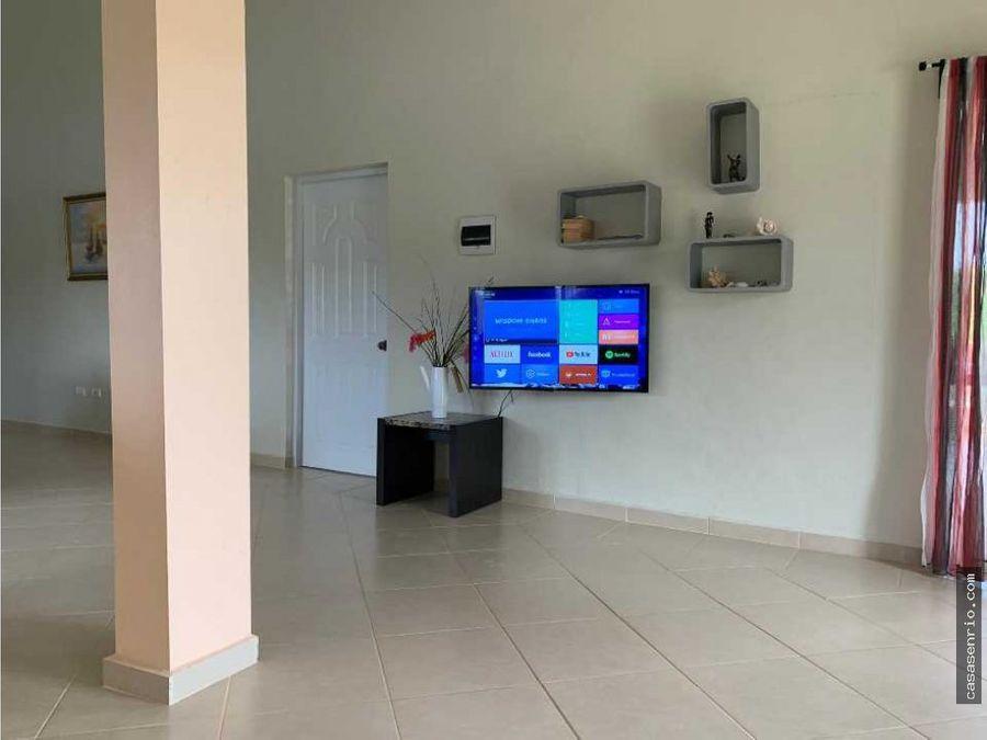 apartamento en renta de 3 habitaciones en rio san juan